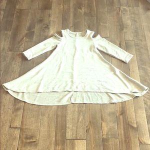 Afton Street Cold Shoulder Swing Dress